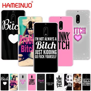HAMEINUO I'M NOT ALWAYS A BITCH cover phone case for Nokia 9 8 7 6 5 3 Lumia 630 640 640XL 2018