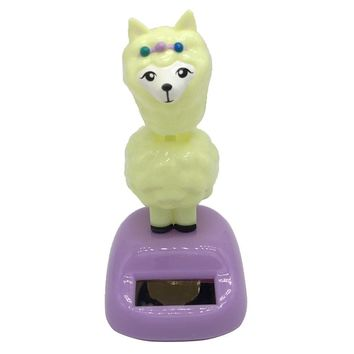 Solar Powered Alpaca Bobble Head