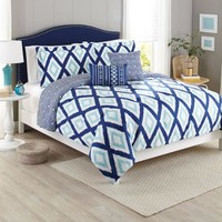 Better Homes and Gardens 5-Piece Bedding Comforter Set, Diamond Ikat - Walmart.com