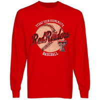Texas Tech Red Raiders Original Pastime Long Sleeve T-Shirt - Scarlet