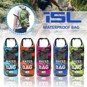 15L/20L/30L Outdoor Swimming Backpack Waterproof Dry Bag  Double Shoulder Strap Water Resist Bags Foldable Kayaking Backpacks