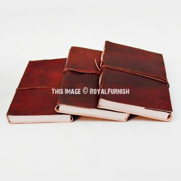 Maroon Genuine Leather Journal Writing Notebook on RoyalFurnish.com