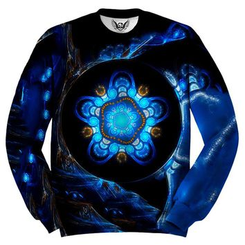 Centered Alien Tech Mandala Sweater