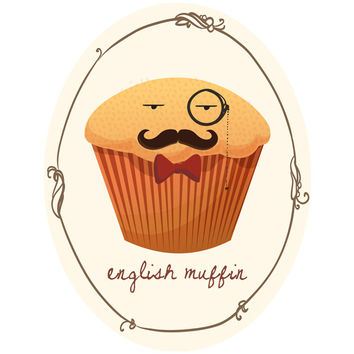 Sara Eshak's English Muffin Wall Decal
