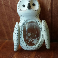 Snow owl Preserved Real Snowflake Ornament, real preserved snowflake, Frozen