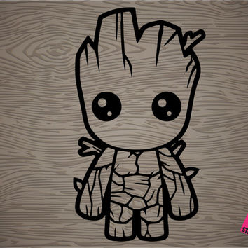groot vinyl decal sticker, free shipping