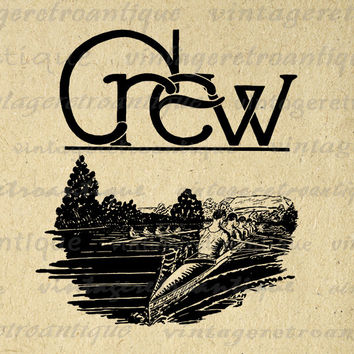 Printable Digital Crew Rowing Image Graphic Download Artwork Jpg Png Eps 18x18 HQ 300dpi No.4185