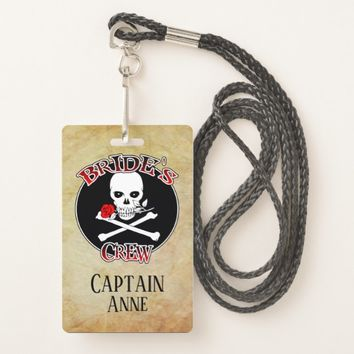 Bride's Crew Personalized Badge