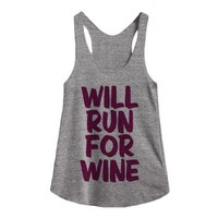 Will Run For Wine-Unisex Athletic Grey T-Shirt