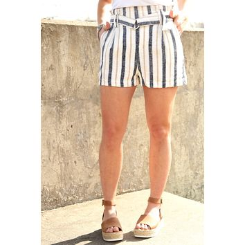 Everything Right Paperbag Shorts - Navy