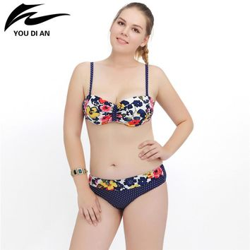 Halter Push up Swimwear Women Bikinis Beach Suit Floral Bathing Suit Swimsuit