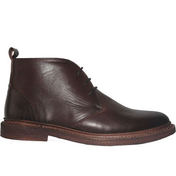 Kixters Shelton - Antique Dark Brown Leather Chukka Boot