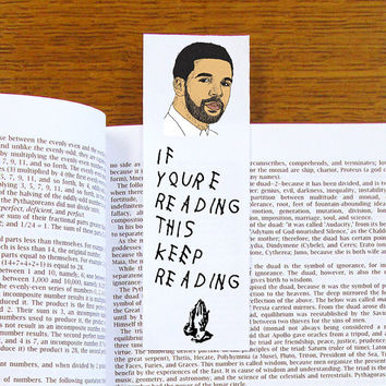 Drake Bookmark If You're Reading This Keep Reading