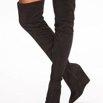 Wedge Thigh High Boot, NLY Shoes