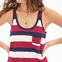 Striped Racerback Pocket Tank