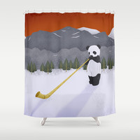 CHINESE ALPHORN Shower Curtain by Je Suis un Lapin