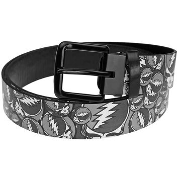 Grateful Dead - Steal Your Face Stacked Leather Belt