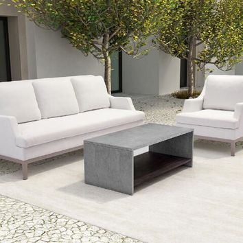 Faux Cement Evanston Indoor and Outdoor Coffee Table