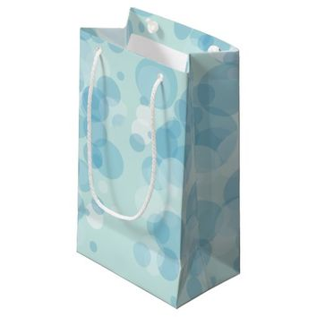 Blue Bubbles Small Gift Bag