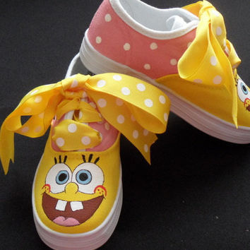 Sponge Bob Hand Painted Children's Shoes