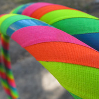 BEST SELLER Rainbow Brite Gaffer Tape UV Reactive Hula Hoop