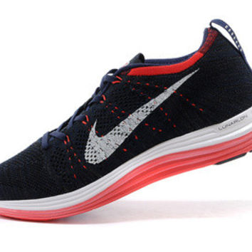 NFL009 - Nike Flyknit Lunar One (Navy/ Red)