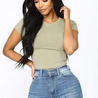 Jaclyn Crop Top - Green Tea
