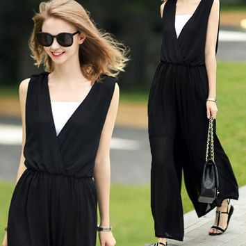 Chiffon Jumpsuit One Piece Dress [10467517588]