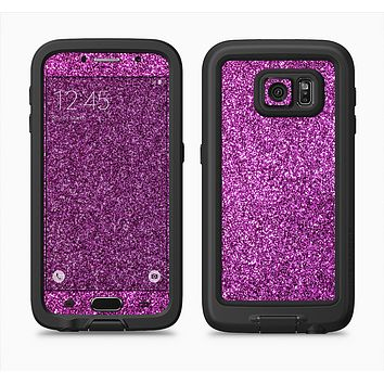 The Purple Glitter Ultra Metallic Full Body Samsung Galaxy S6 LifeProof Fre Case Skin Kit
