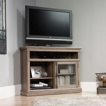 Sauder 42 in. Barrister Lane Corner TV Stand - Salt Oak | www.hayneedle.com