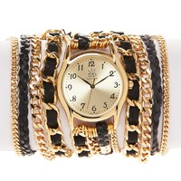 Sara Designs Leather & Chain Wrap Watch, 33mm | Bloomingdale's