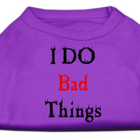I Do Bad Things Screen Print Shirts Purple XS (8)