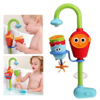 2016 Hot Multicolor Fun Baby bath toys automatic spout play taps buttressed folding spray showers toy faucet play with water