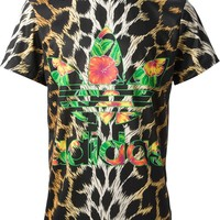 Adidas Originals By Jeremy Scott Leopard Print Trefoil T-Shirt