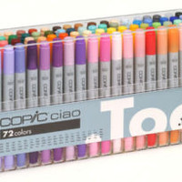 COPIC CIAO PENS 72 SET A - MANGA GRAPHIC ARTS + CRAFT MARKERS - FAST SHIPPING