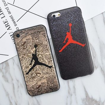 Jordan Brand Logo NEW Soft Silicon TPU Cute Case for iPhone 5s, Fashion Phone Cover Co