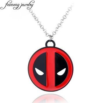 Deadpool Dead pool Taco Marvel   Pendant Popular Superhero  Logo Red Alloy Statement Necklaces Fashion Jewelry Accessories For Men AT_70_6