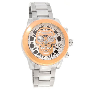 Invicta 18865 Men's Corduba Skull Skeleton Dial Chronograph Steel Bracelet Watch