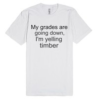 Timber-Unisex White T-Shirt