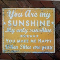 You Are My Sunshine by GoJumpInTheLake on Etsy