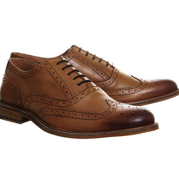 Office Bhatti Brogues Tan Leather - Smart