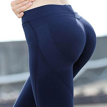 Women'S PUSH UP leggings Yoga pant High Solid Skinny Stretch Leggings Size XS-XL FREE SHIPPING