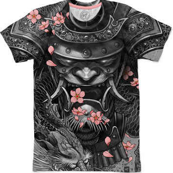 Samurai Dragon Men's T-Shirts by Elvin yong | Nuvango