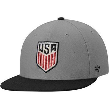 Licensed Sports US National Team '47 Two-Tone No Shot Captain Hat - Gray KO_20_2