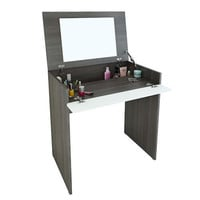 Nexera Allure Vanity with Mirror & Integrated Storage - Black and White