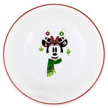 Disney Parks Santa Mickey and Friends Nordic Winter Holiday Cereal Bowl New