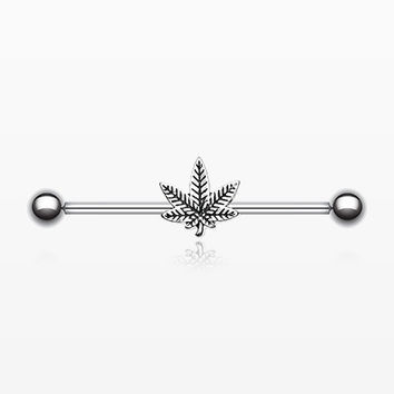 Weed Leaf Industrial Barbell