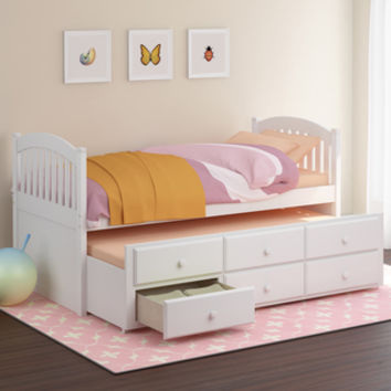 CorLiving White Heritage Place Trundle Bed