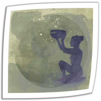 Art Wall Astral Goddess 24 by 24-Inch Unwrapped Canvas Art by Elena Ray with 2-Inch Accent Border