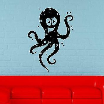 Wall Stickers Vinyl Decal For Bathroom Funny Octopus Ocean Marine Unique Gift ig1567
